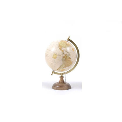 Slika Globus s drvenim postoljem 23x20,5x32,5 cm.