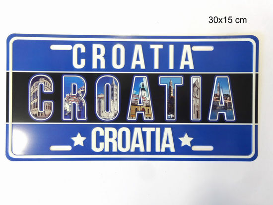 Picture of REGISTRACIJSKA PLOČICA CROATIA 30X15CM